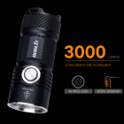 Led Torch Led Boruit Super Bright 3000lm Led Torch Flash Light 30W XPG Mini LED Flashlight With USB 26350 Battery