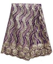 2020 Высококачественная африканская кружевная ткань с пайетками, французская сетка, вышивка, тюль, кружевная ткань для нигерийского свадебно...(Китай)