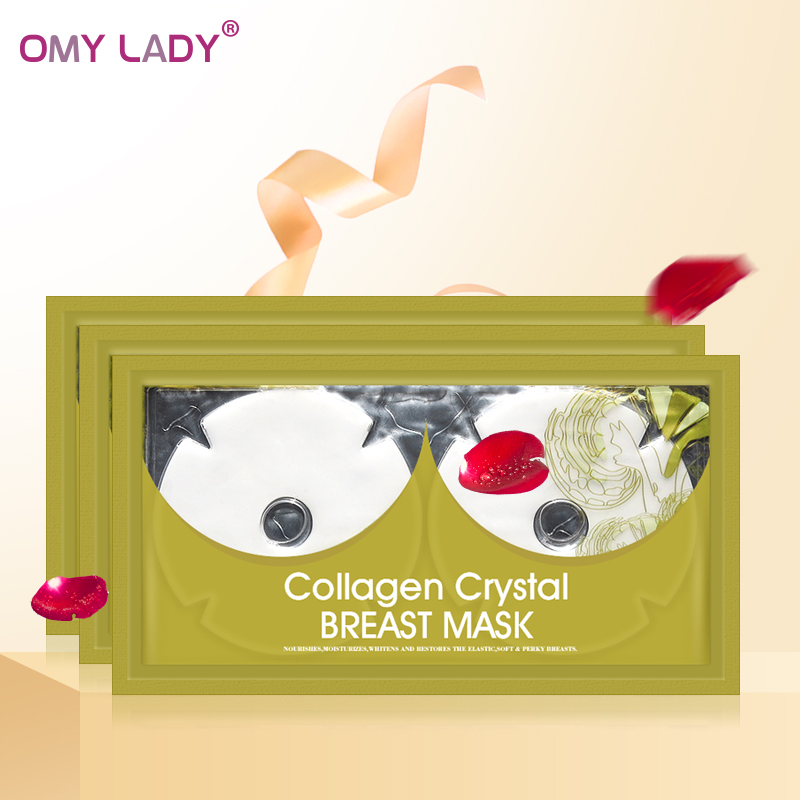 FDA approved OMY LADY collagen crystal bust mask instant breast enlargement patches for sale