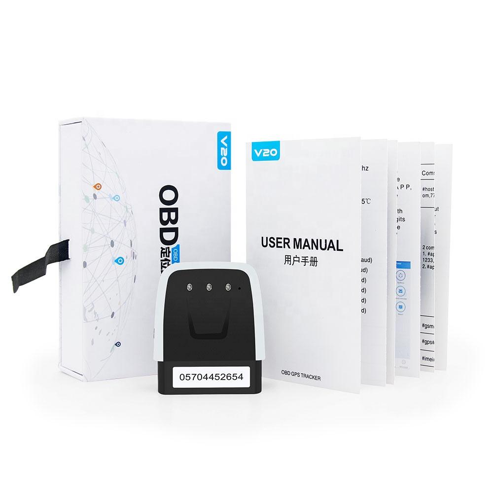 Hot Sale V20 OBD2 GPS Tracker 2G GSM Tracking Sim Card Locator