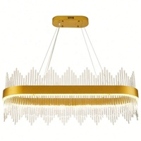 Retro Romantic Brass Gold Color Living Room Ceiling Pendant Lamp