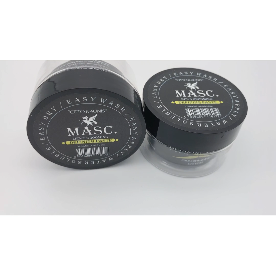 Wholesale top quality Brand strong hold low shine hair styling gel Private Label DEFINING PASTE