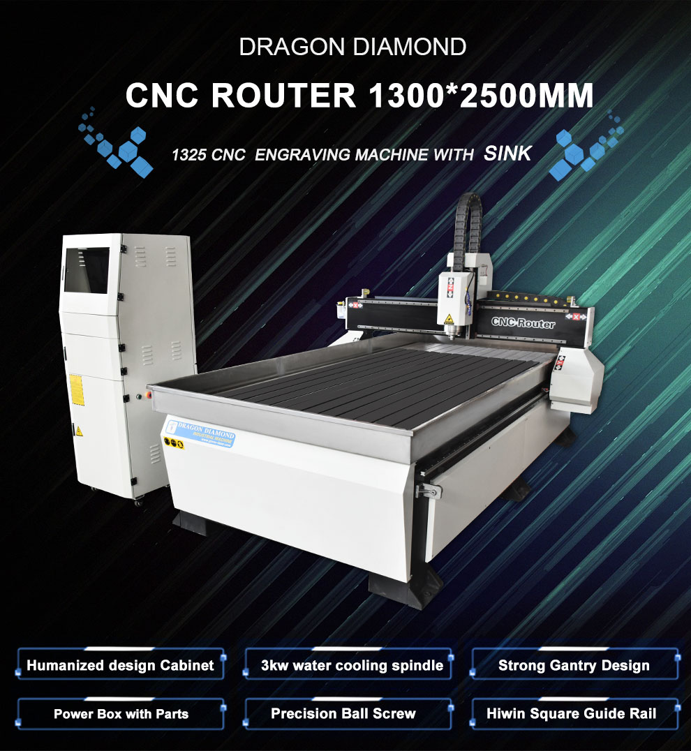 Stone working CNC Machine