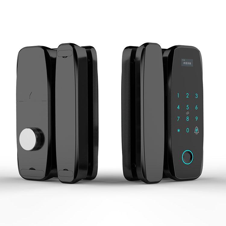 Стеклянная дверь отверстие для сканера отпечатка пальца установка без образования пузырьков Поддержка Пароль считыватель карт мини программа пульт дистанционного управления NFC разблокировка