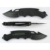 Custom logo / package all  black folding handle folding camping knife handle knife