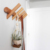 Modern Nature color 5 Hooks Wall Mounted Coat and Hat Rack
