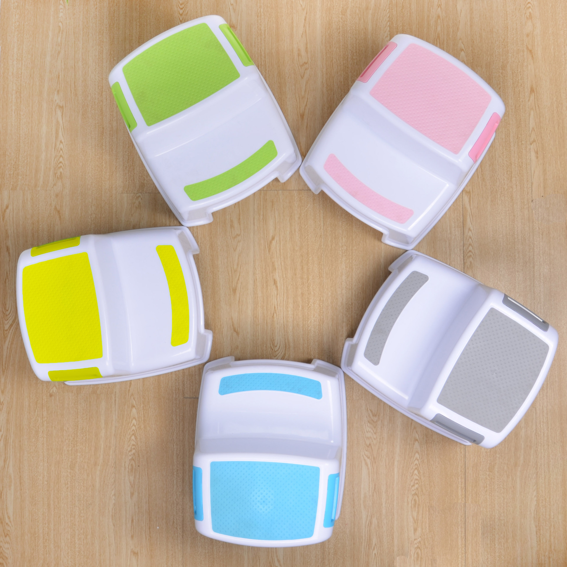 household colorful portable Children baby bathroom non-slip plastic stool two step ladder stool Bench footstool