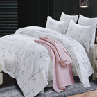 Elegant Art Pattern Reactive Printing Satin Four-piece Kit Bedding Set 100%Cotton