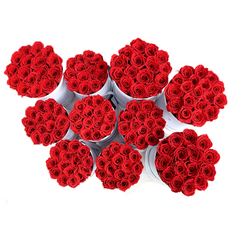 Red Everlasting Roses Preserved <strong>Flower</strong> for Christmas Decoration Valentine's Gift