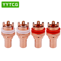 YYTCG Hot Selling Pure Copper RCA Female Plug Binding Post Audio Cable Connectors Speaker Cable Terminals Socket