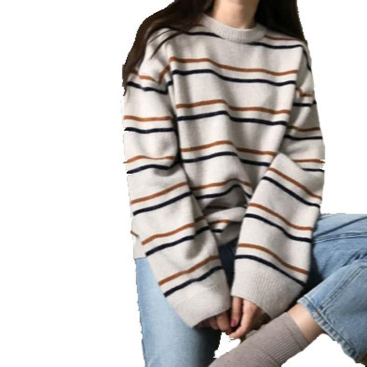 El 2020 de las mujeres, suéter de ropa damas cuello redondo suéter flojo suéter de punto