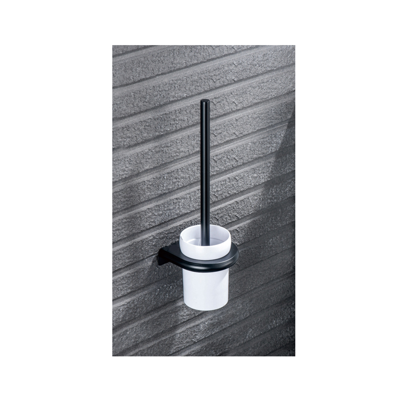 <strong>Stainless</strong> <strong>steel</strong> wall mounted white cup black <strong>toilet</strong> <strong>brush</strong> and holder