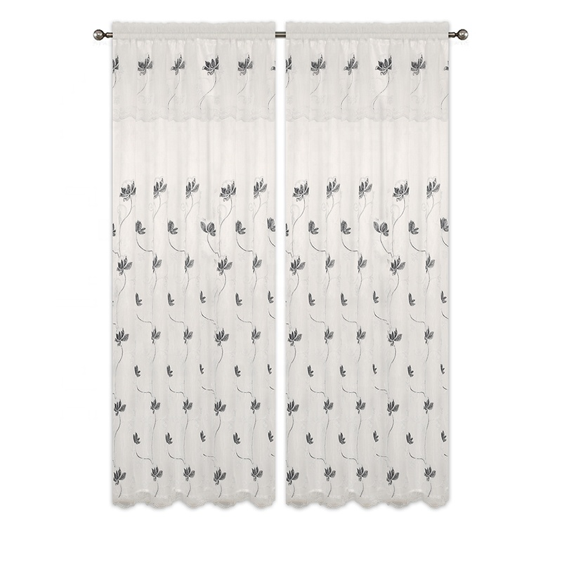 curtain embroidery design,30 Pieces, Black