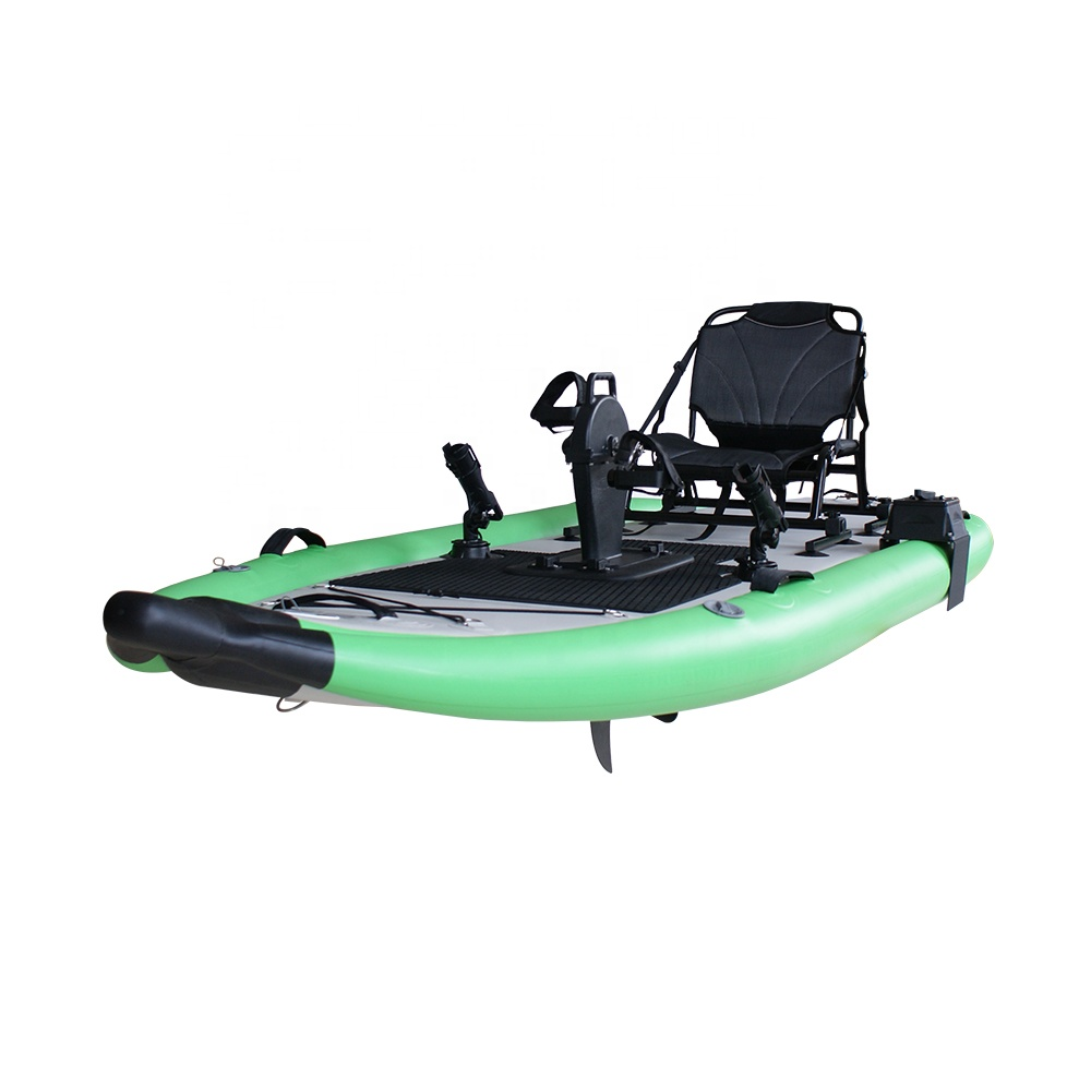 335cm Air Drop Stitch Foldable Water Fishing Inflatable Pedal Stand Up Paddle Boards SUP with Aluminum Alloy Oars