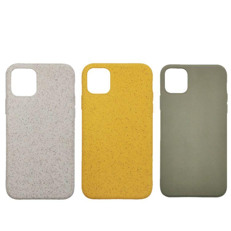 PLA tarwe stro Biologisch Afbreekbaar Gerecycled Eco Vriendelijke Telefoon Gevallen Voor Iphone 7/8 Case