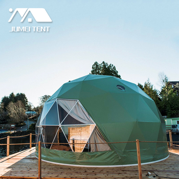 Economy Geodesic Domes 6m Tourism Glamping Tent Luxury Hotel For Resort And Camping