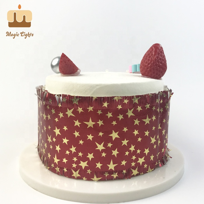 Traditionele Rode En Gouden Cake Decorating Franje