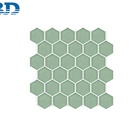 Parquet Glass Mosaic Decorative Wall Tile Decorated Bathroom Wall Green Tile Hexagon Glass Mosaic