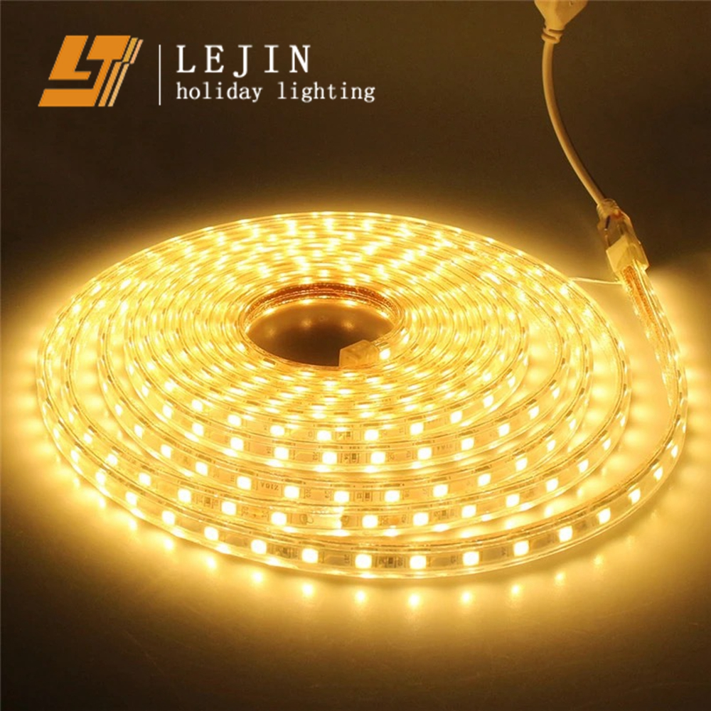 High Brightness Flexible heat resistant led strip light High Voltage Waterproof