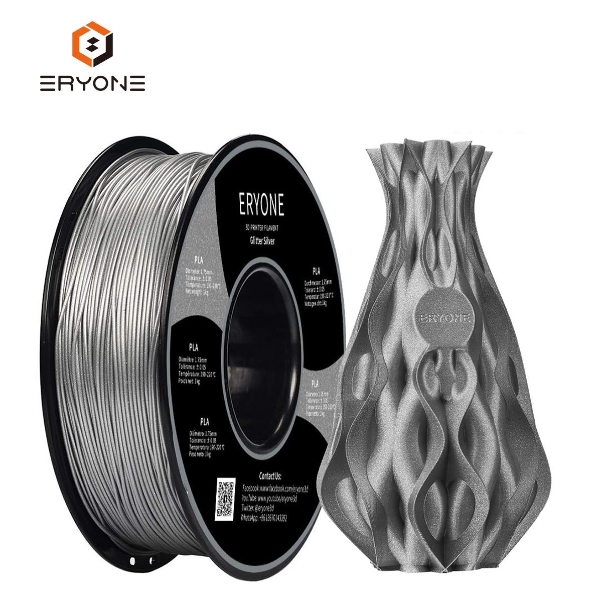 Eryone PLA Filament 1.75mm Silk Blue Silky Shiny Filament PLA Smooth Printed 3D Printer Filament 1kg/roll