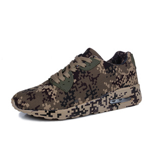 Wholesale best selling unisex camouflage air cushion men and women sports shoes running training shoes 36-46