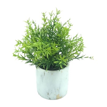 Small green potted plants Small artificial plants for desk decoration