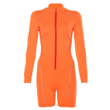 Fashion Womens <span class=keywords><strong>jumpsuit</strong></span> Reflecterende Neon <span class=keywords><strong>Oranje</strong></span> Sexy Bodycon Vrouwen <span class=keywords><strong>Jumpsuit</strong></span>