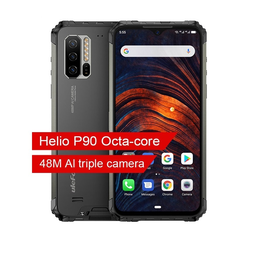 Globale Version Ulefone Rüstung 7 IP68 Robuste Handy 6,3 ''Helio P90 8GB + 128GB Android 9.0 NFC 5500 mah 4G LTE Smartphone