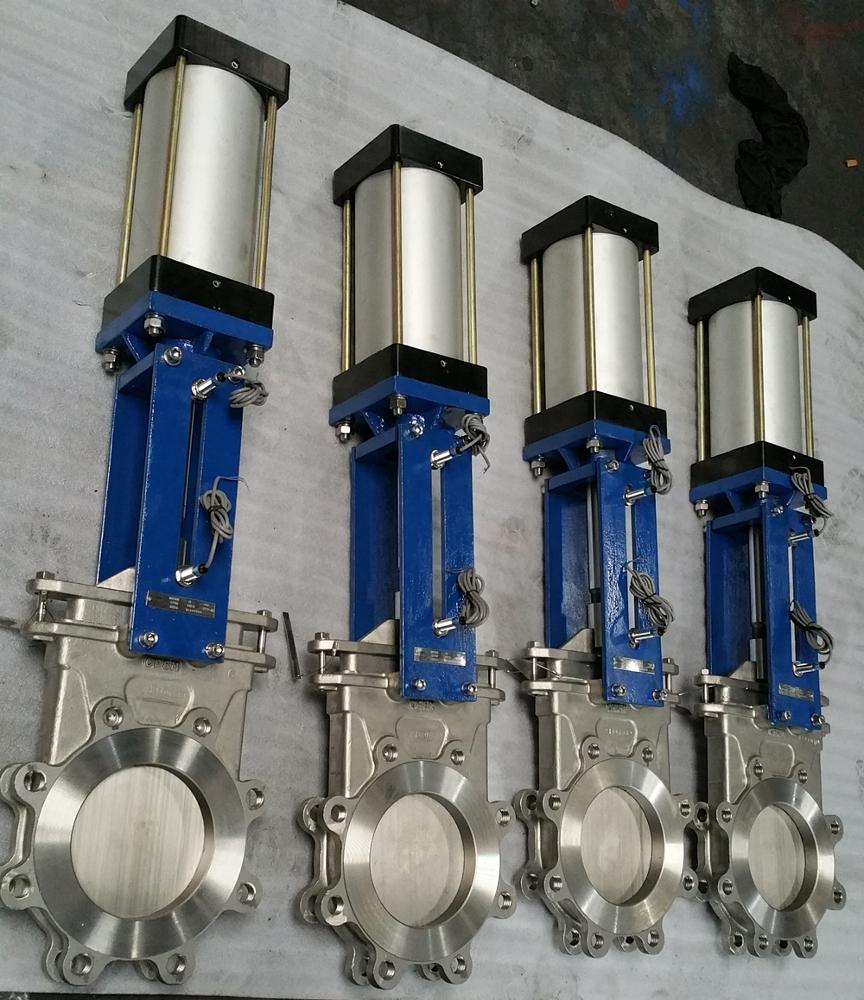 lug type stainless steel pneumatic knife gate valve