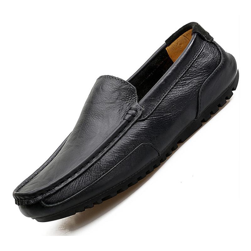 Barato planos de marca hombre Zapatos de moda Zapatos de holgazán de cuero de zapato de los hombres Slip-on mocasines de los hombres
