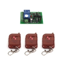 DC 12V 10A Relay 2Ch wireless RF Remote Control Switch 3 Transmitter+ Receiver 315MHz 433MHz ON/OFF Module Kits