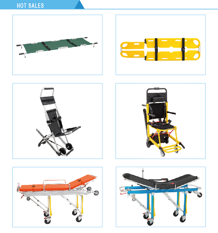 Casket and coffin medical foldable funeral trolley stretcher products