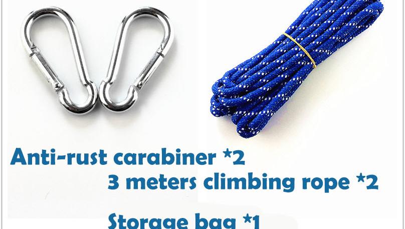 Im freien schaukel fallschirm nylon stoff hängematte für camping