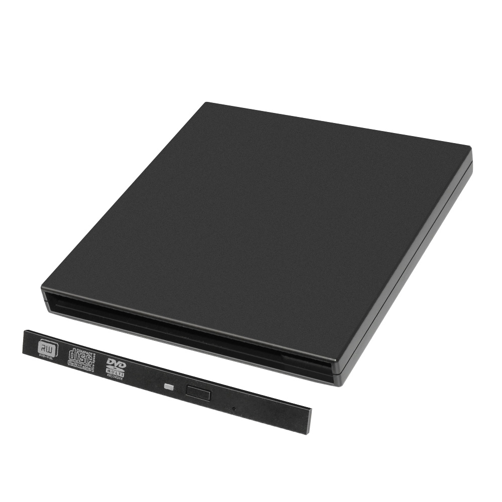 Slim Portable 9.5mm USB2.0 SATA DVD Burner Case for Laptops