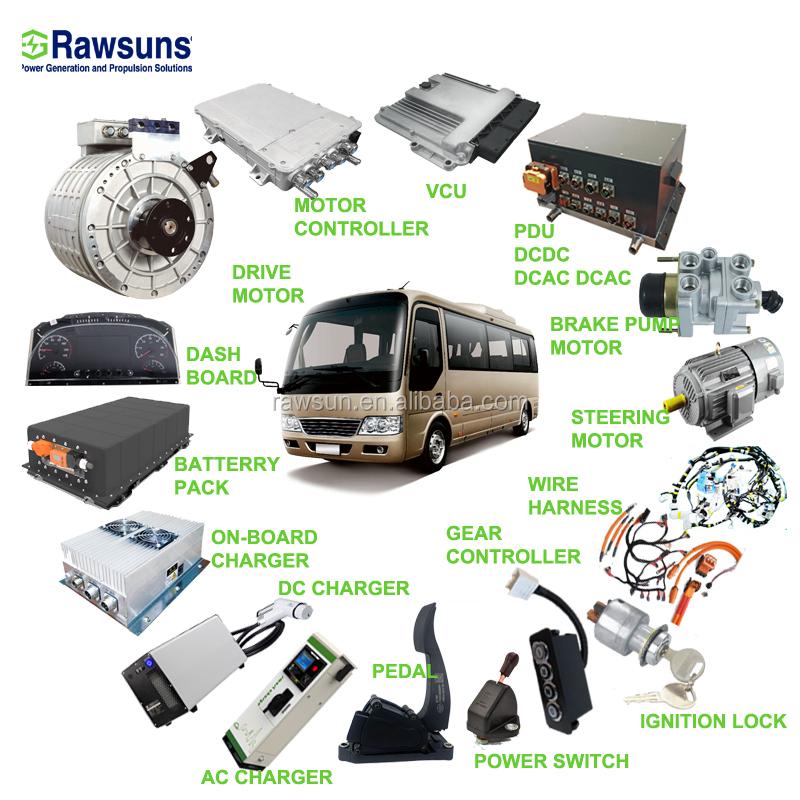 Haute efficacité EV kit de Conversion pour l'autobus électrique camion électrique voiture électrique véhicule électrique partie