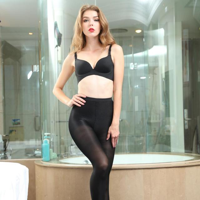 Details about  /Women/'s Shiny Oil 70 Denier Footed Stockings Control Top High Waist Tights Panty