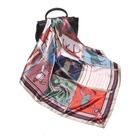100% Silk Scarf Women Print Square Scarves Silk Satin Headscarfs Shawls