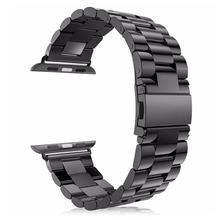 URVOI ремешок для apple watch series 5 4 3 2 Ссылка браслет для iwatch ремешок из нержавеющей стали с адаптером металлический ремень 38 40 42 44 мм(Китай)