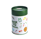 tin can coin bank removable lid money tin box round