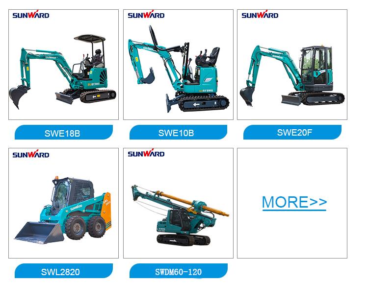 Cupom de dinheiro venda! Máquina 1 ton mini-escavadoras escavadoras de lagartas