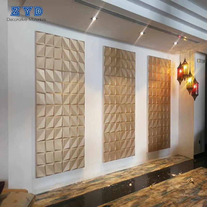 High quality Soundproof cheap 3d pu luxury faux leather wall panel for walls