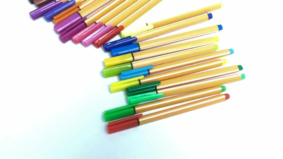 थोक ठीक लाइन कलम रंग कलम ड्राइंग कलम 0.4mm टिप बहु-रंग ठीक लाइन मार्कर