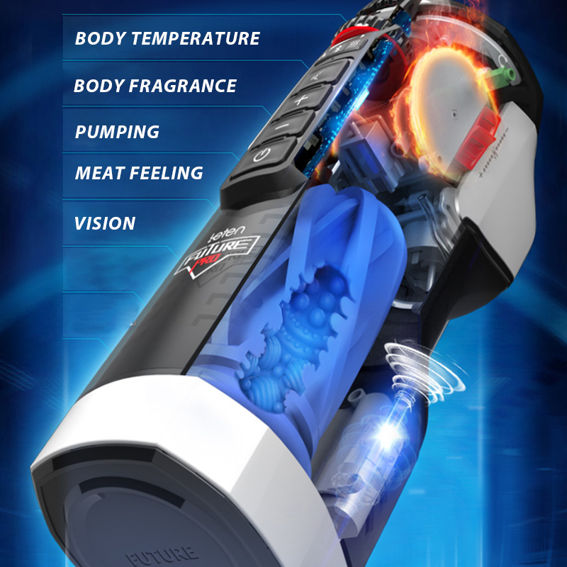 Automatic Strong Thrusting Intelligent Heated Piston Male Masturbator Smart Girl Sex Moans Rotation Telescopic Sex Toys For Men