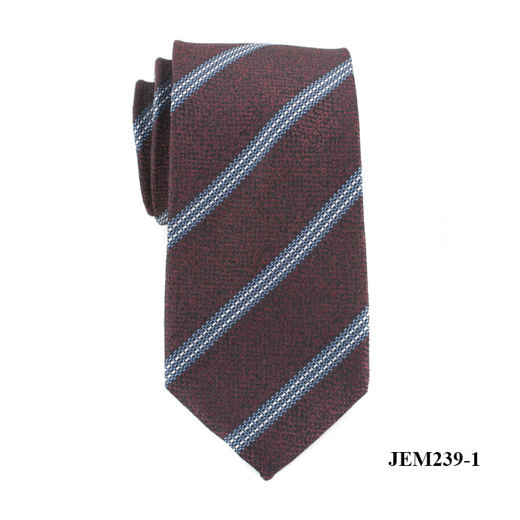 Custom Fashion Navy 100% Polyester Stripe Ties for Sale