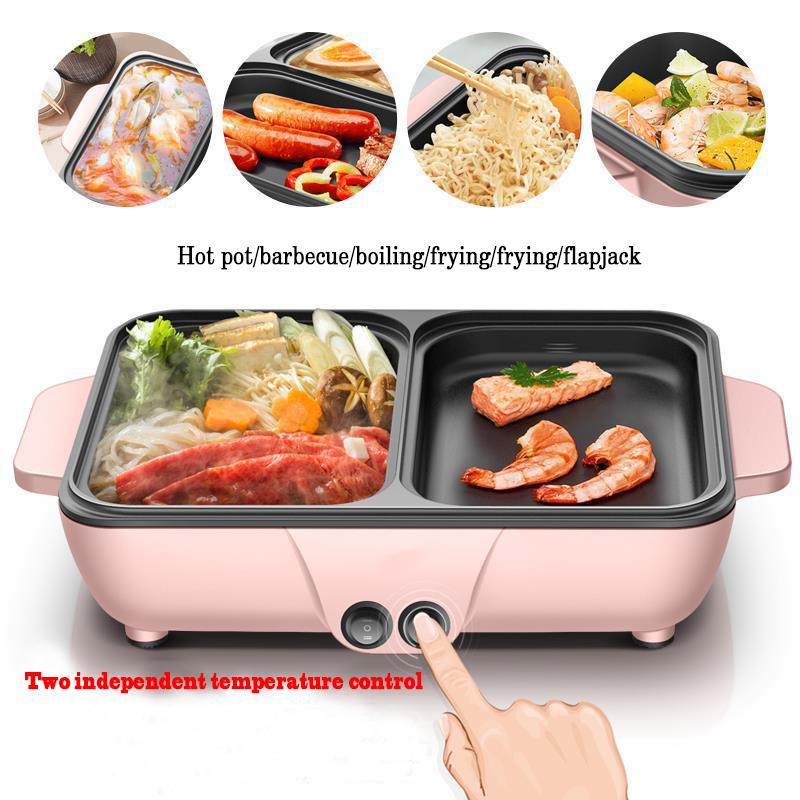 Cooking electric hot pot pan