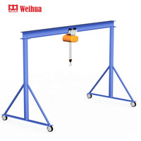 weihua small indoor mobile workshop electric hoist single girder box gantry crane 3ton 2 3 5 10 ton Price for sale