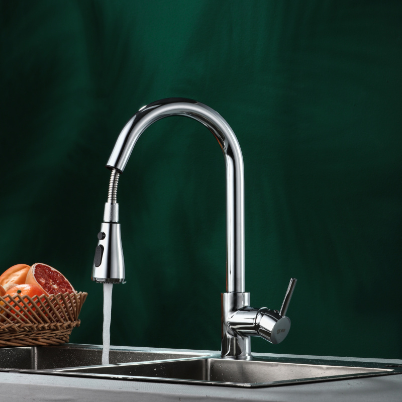 CE approved high quality brass pull out <strong>kitchen</strong> <strong>faucet</strong>