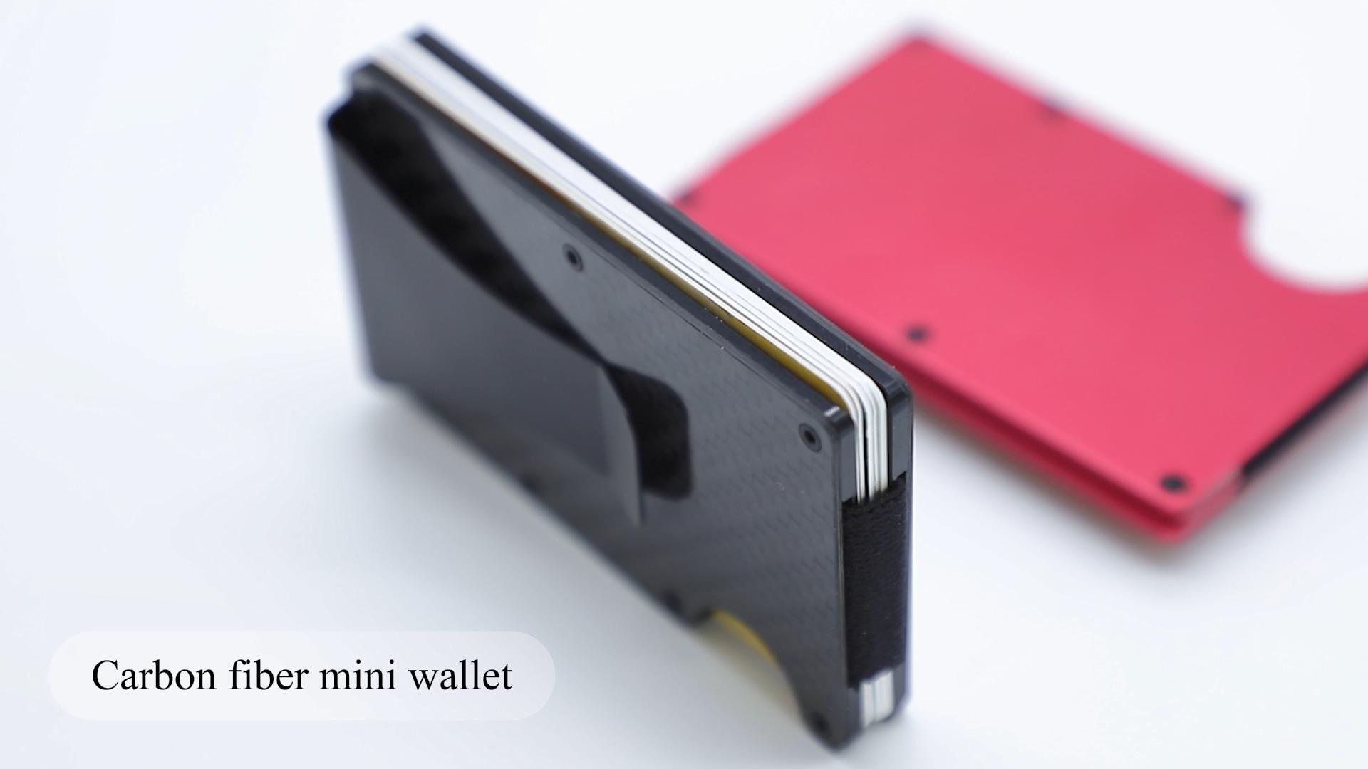 Excelusive RFID Carbon Fiber Wallet Tối Giản Ví Holders Thẻ Tín Dụng Với Tiền Clip