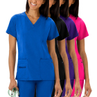 Fashionable Stretch Medical Scrubs Hospital Uniform for Nurse,Printing Customized Nursing Hospital Uniforms
