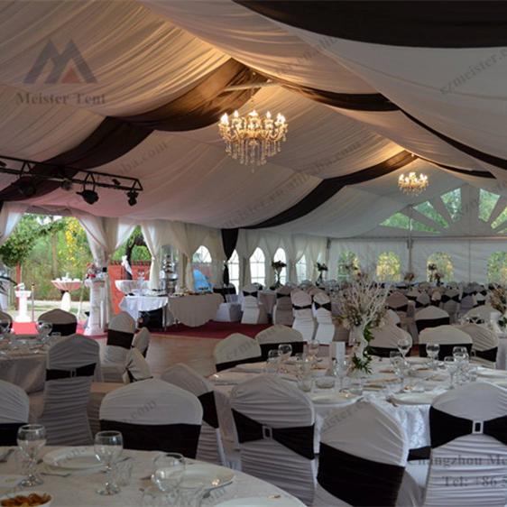 Moldura de alumínio de luxo tenda de casamento marquise, barraca do partido ao ar livre branco